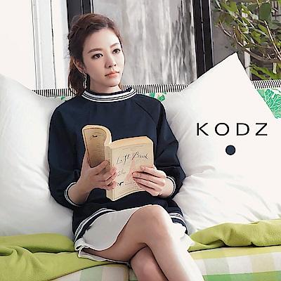 東京著衣-KODZ 菲菲聯名假兩件運動風洋裝-S.M.L(共一色)