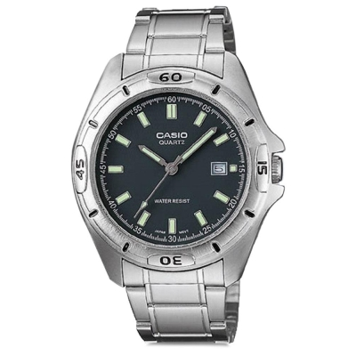 CASIO 經典時尚簡約風格指針腕錶(MTP-1244D-8A)灰面/42mm