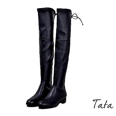 人造皮超顯瘦膝上靴 TATA