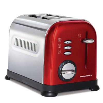 英國Morphy-Richards-九段溫控不鏽鋼烤麵包機-魅力紅44742