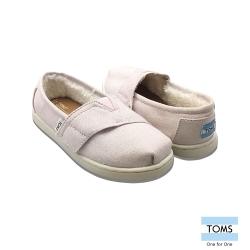 TOMS 素面內鋪毛休閒鞋-幼童款