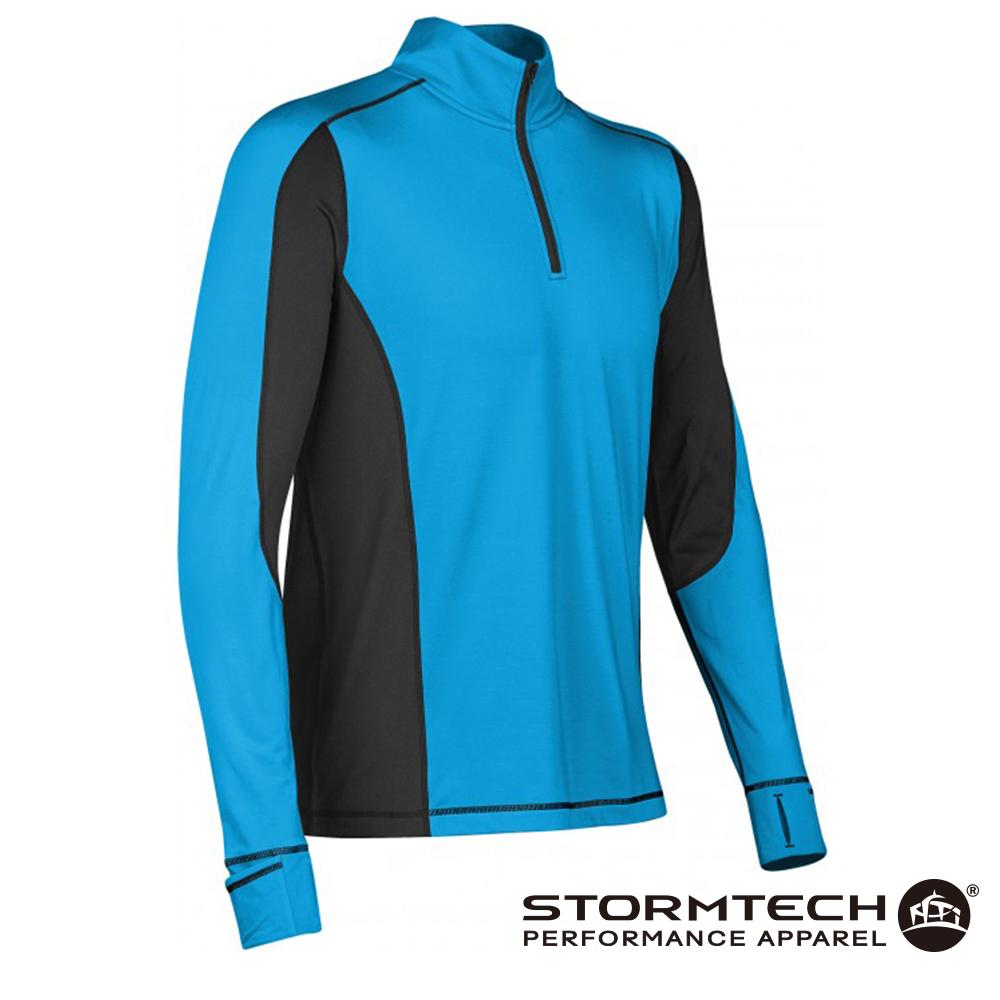 【加拿大STORMTECH】PL-4 男子漫跑者吸排快乾恆溫上衣-天藍