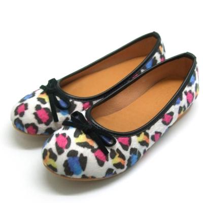 天使童鞋-D377 秋冬絕美豹紋親子鞋(大童)-彩色紋