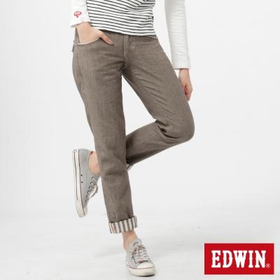 EDWIN-休閒童趣-MISS-BT袋蓋B-F色褲-女款-咖啡
