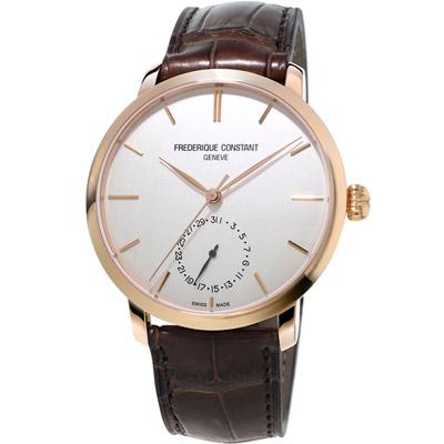 康斯登 CONSTANT Manufacture系列經典腕錶-咖啡色/42mm
