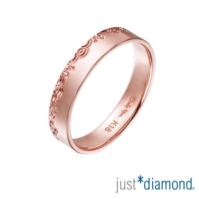 Just Diamond 18K玫瑰金戒指(4mm)-青海波