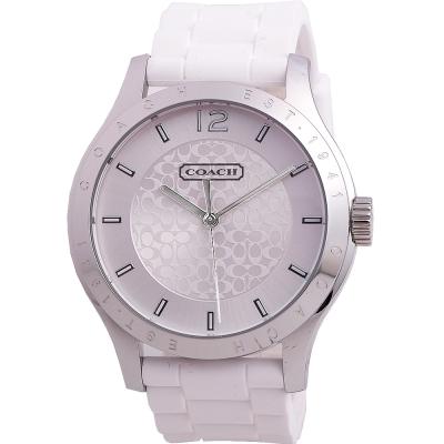 COACH Maddy 經典LOGO時尚腕錶-白/40mm(14501803)