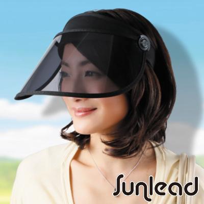 Sunlead 防曬護臉款。透明長帽簷涼感效果遮陽帽/中空帽
