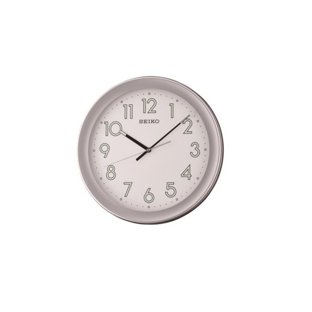 SEIKO 精工 夜光掛鐘 時鐘(QXA670S)-灰框/36.8cm