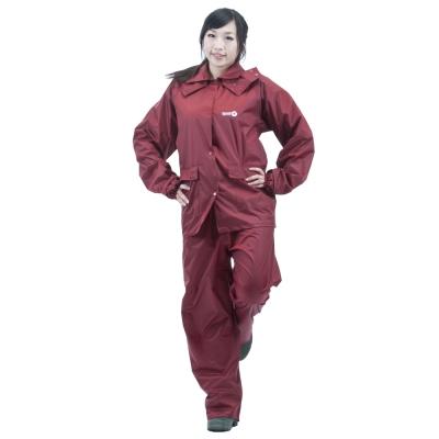 達新牌 女挺麗型兩件式雨衣(大方紅)