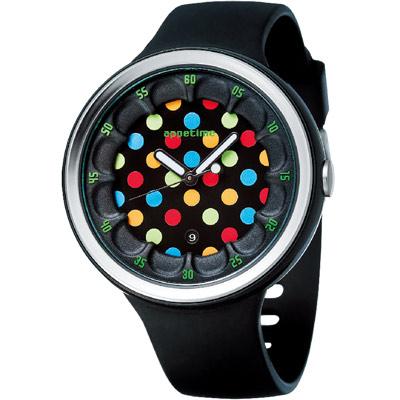 APPETIME-SPARKLING-微氣泡圓點夜光日期腕錶-黑色泡泡-黑-42mm