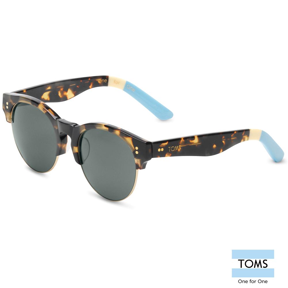 TOMS CHARLIE RAE  經典琥珀色半框款 太陽眼鏡-中性款(10003435)