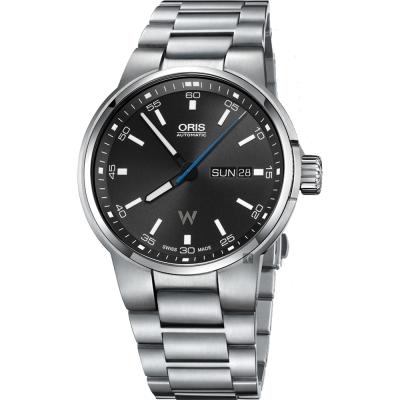 Oris豪利時 Willimas F1賽車系列日曆星期機械錶-黑x銀/42mm