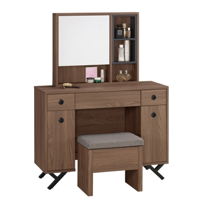 Boden-洛克3.3尺化妝桌/鏡台(贈化妝椅)-100x40x136cm