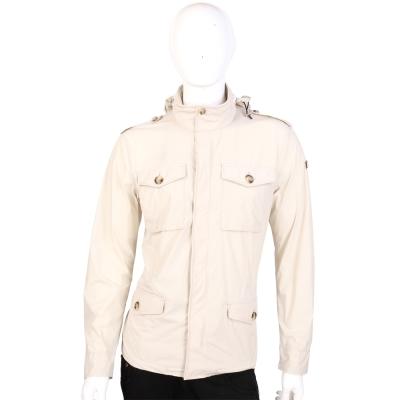 EMPORIO ARMANI JEANS 米色口袋設計連帽外套