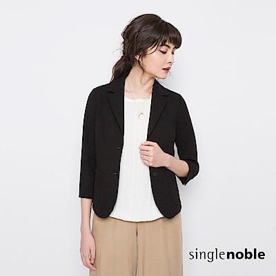 獨身貴族 都會俐落短版七分袖西裝外套(1色)