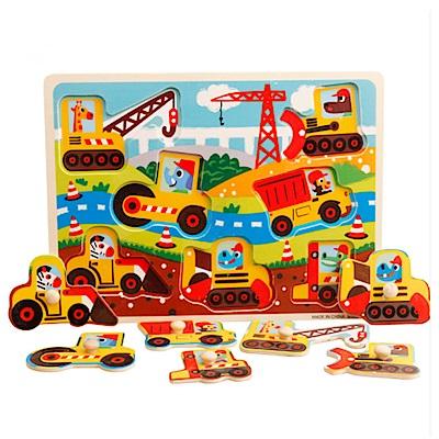 兒童玩具 木製啟蒙早教手抓板拼板-10款可選(3入組)