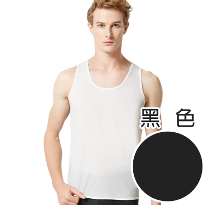 SOLIS 夏日涼感WINCOOL系列M-XL圓領無袖背心(黑色)