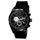 【CERRUTI 1881】究極話題三眼計時腕錶(全黑)