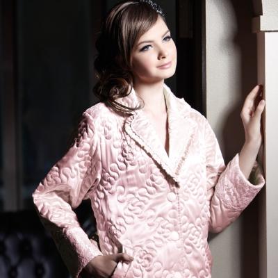 羅絲美睡衣 - 高調奢華膝上裙裝睡衣 (甜美粉)