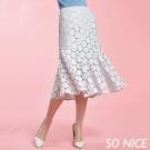 SO NICE魅力蕾絲魚尾裙-動態show