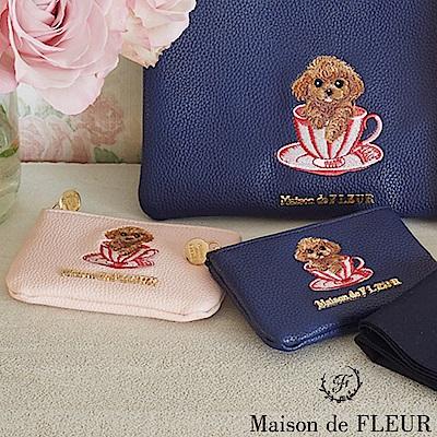 Maison de FLEUR 可愛貴賓狗零錢包