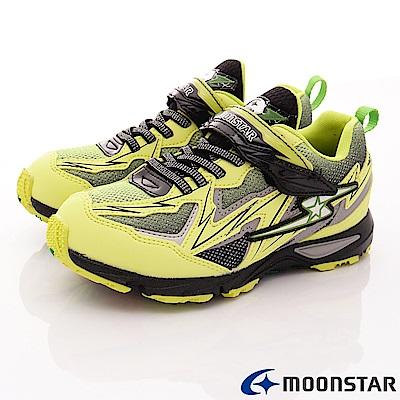 日本月星頂級競速童鞋 閃電衝刺系列 7437萊姆(中大童段)