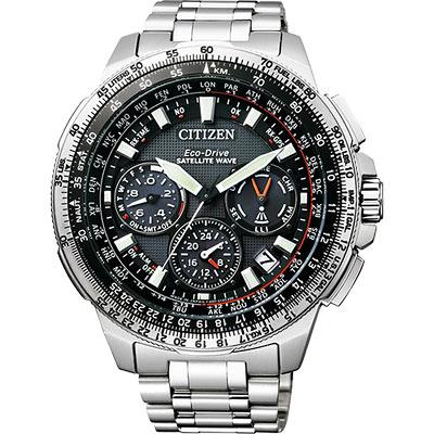 CITIZEN 光動能GPS衛星對時鈦金屬限量腕錶(CC9020-54E)-47mm