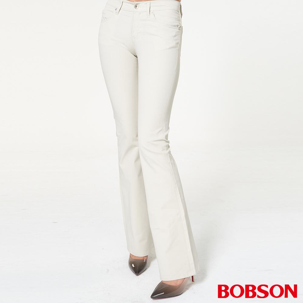 BOBSON 女款低腰雙向伸縮喇叭褲