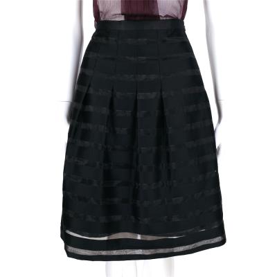 Max Mara 黑色材質拼接設計及膝裙