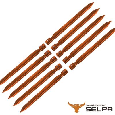 【韓國SELPA】18cm鋁合金露營釘/營釘/帳篷釘(10入組)