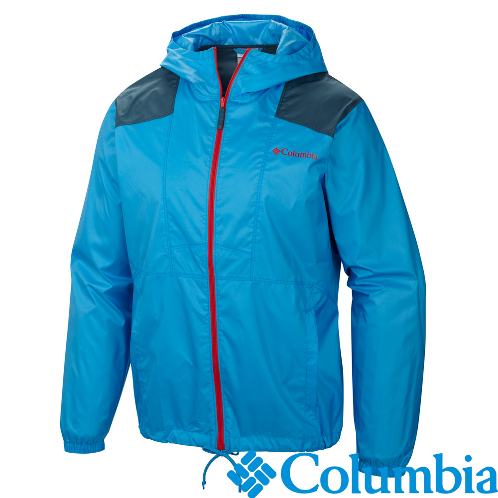 Columbia哥倫比亞-單件防潑外套-男-藍色/UKM39720BL