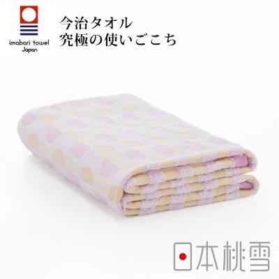 日本桃雪今治水波紋浴巾(粉橘太陽)