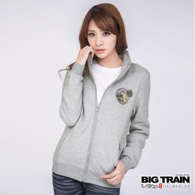 BIG TRAIN-女款 蝶戲梅花墨達人外套-灰