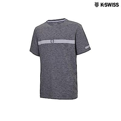 K-Swiss Poly Tech Tee運動排汗T恤-男-灰