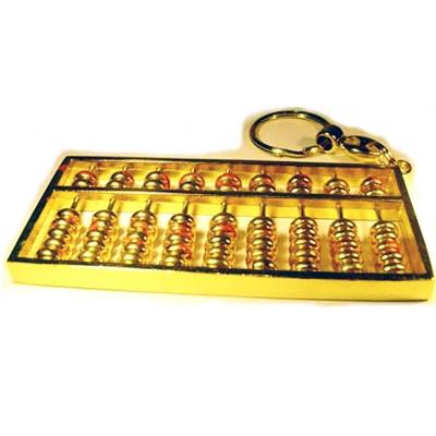 開運陶源【(小)金算盤key 】鑰匙環