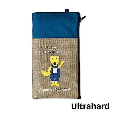 Ultrahard 月見兔手機袋-狐狸(藍褐)