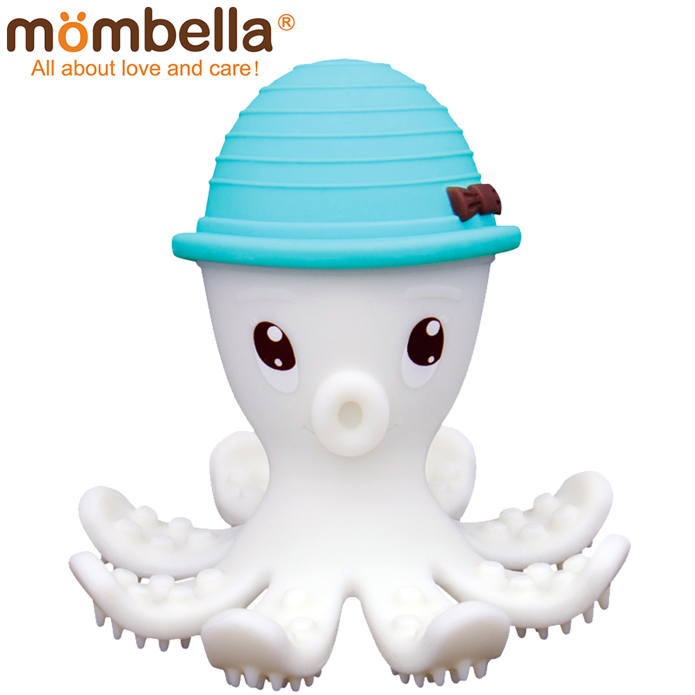 英國 Mombella 樂咬咬章魚固齒器 藍色