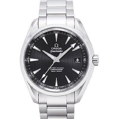 OMEGA 歐米茄 Seamaster Aqua Terra 經典黑面機械錶-41.5mm
