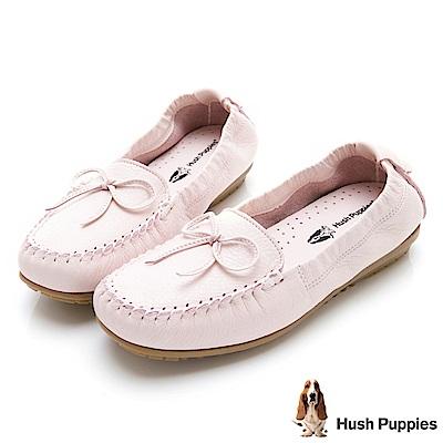 Hush Puppies 可彎曲豆豆底休閒鞋-粉紅
