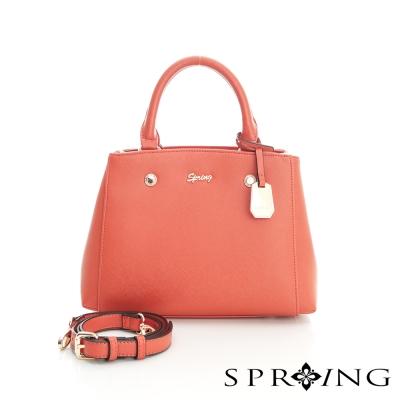 SPRING-金牌小名媛系列-2way小方包-粉橘