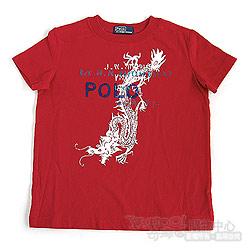 RALPH LAUREN 正紅龍圖騰短袖T恤(3歲)