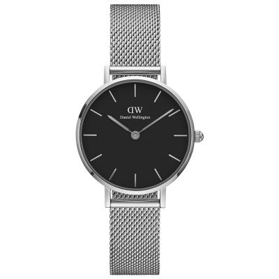 DW Daniel Wellington 優雅史德琳氣質米蘭編織帶腕錶-銀框/32mm