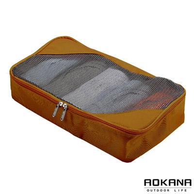 AOKANA奧卡納 MIT台灣製造透氣輕量旅行萬用包 衣物整理袋02-023B(棕色)