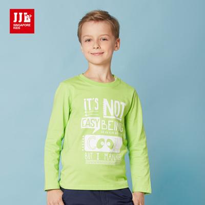 JJLKIDS-英倫俏皮字母印花純棉T-綠色