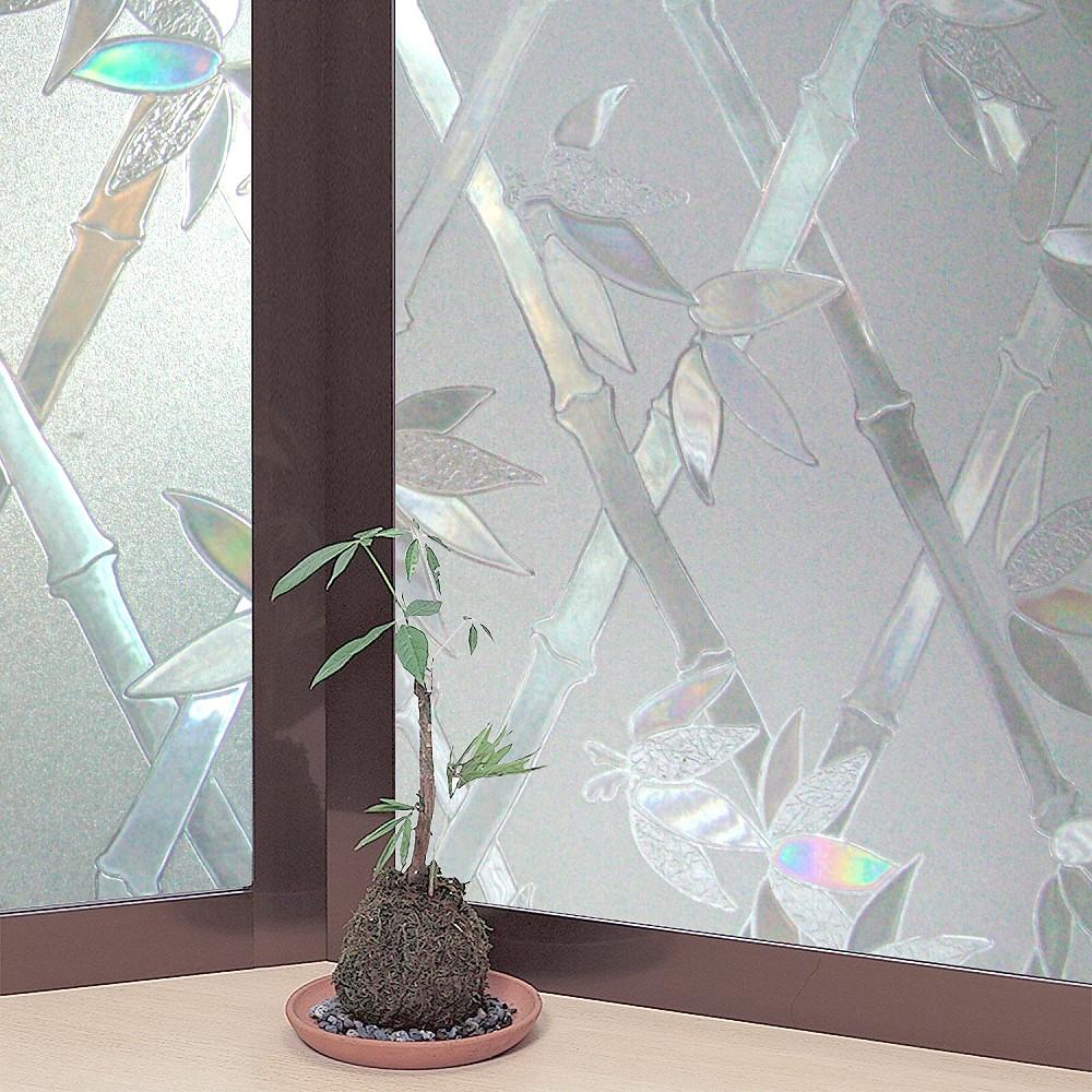 ★促銷★〔日本MEIWA〕抗UV靜電窗貼 (竹籬意象)46x100公分
