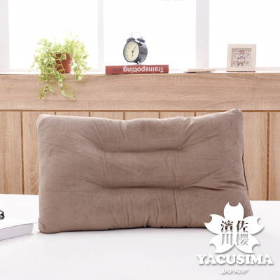 濱川佐櫻-台灣製舒適水洗枕-棕色(1入)