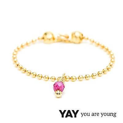 YAY You Are Young 法國品牌 Frida 寶石花束戒指 鍊戒款 紅寶石