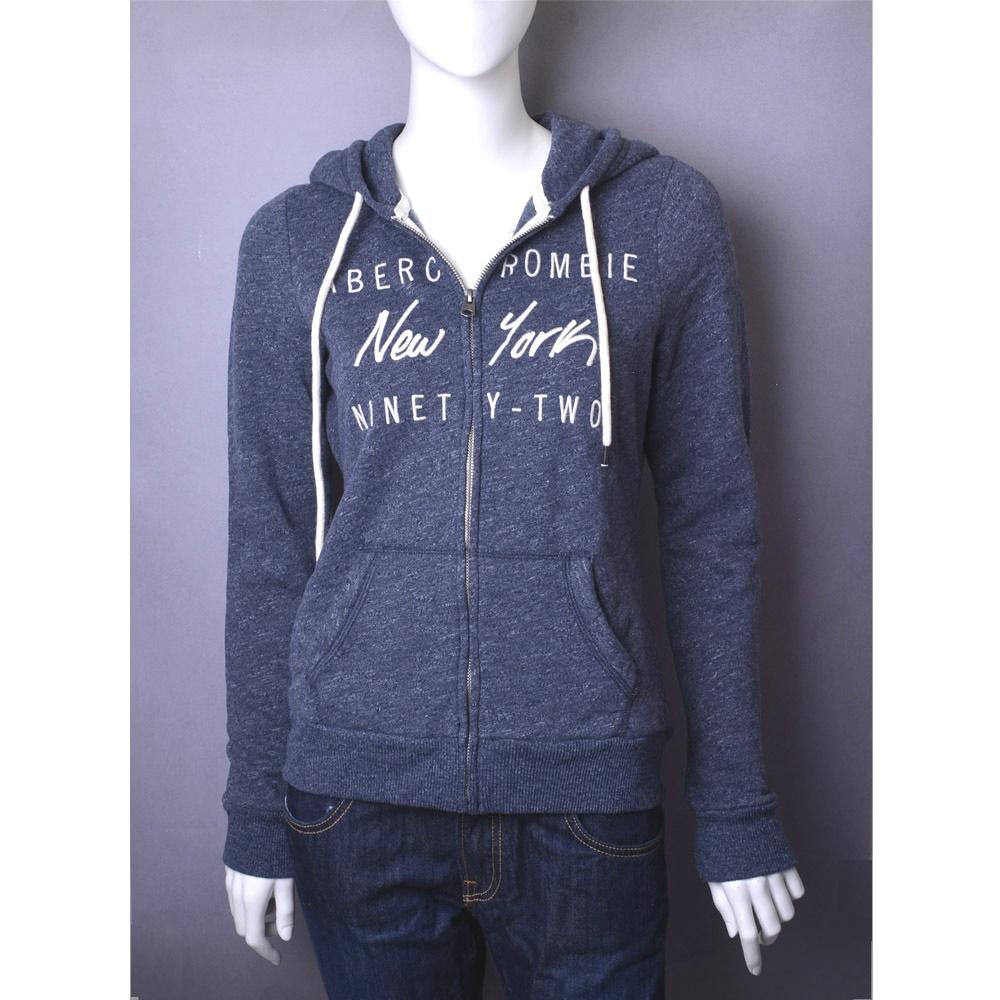 A&F Abercrombie & Fitch 刺繡New York長袖外套-藍