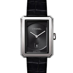 CHANEL 香奈兒BOY·FRIEND中型款鱷魚皮錶帶-26.7 x 34